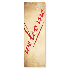 Red Script Welcome Banner