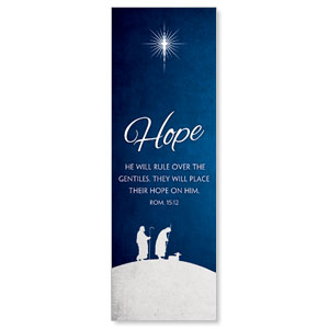 Advent Hope 2' x 6' Banner