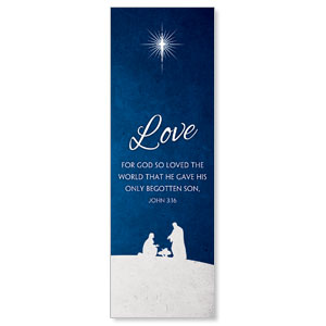 Advent Love 2' x 6' Banner
