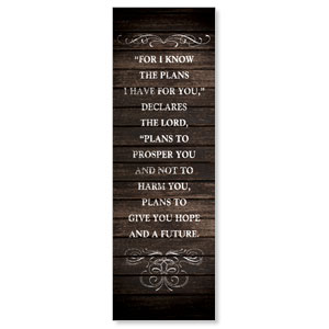 Rustic Charm Jer 29:11 Banners