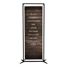 Rustic Charm Prov 3:6 Banner