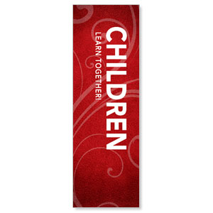 Flourish Children 2' x 6' Banner