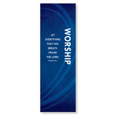 Flourish Worship Blue Banner