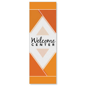 Welcome Diamond Orange Banners