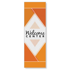 Welcome Diamond Orange Banner