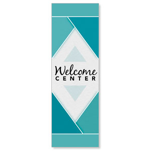 Welcome Diamond Blue Banners