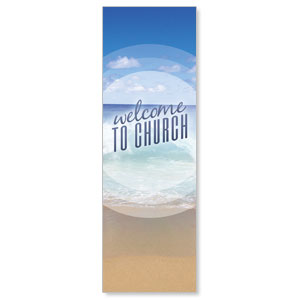 Season Welcome Ocean 2' x 6' Banner
