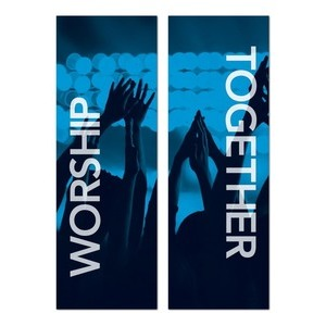 Worship Together Pair  Banners