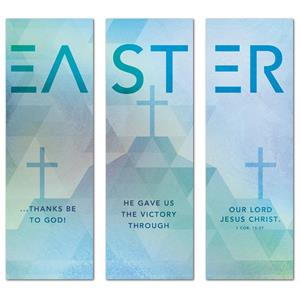 Easter Geometric  2' x 6' Banner