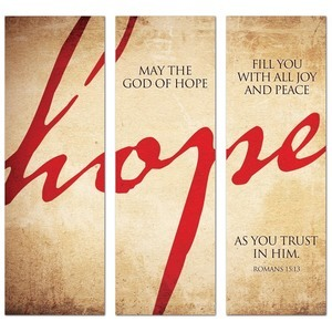 Hope Triptych  2' x 6' Banner