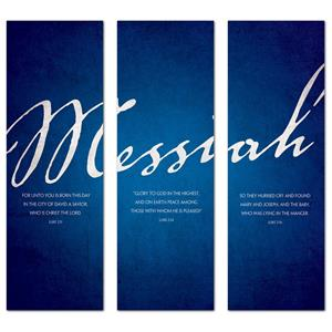 Messiah Triptych 2' x 6' Banner