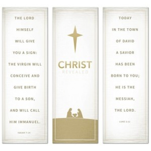 Christ Revealed Triptych 2' x 6' Banner