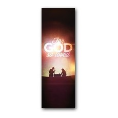 For God So Loved Nativity Banner