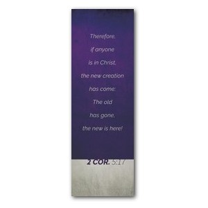 Color Block 2 Cor 5:17 2' x 6' Banner