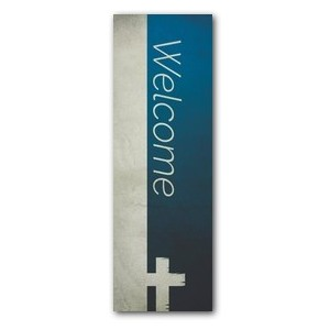 Color Block Welcome 2' x 6' Banner