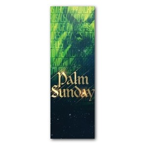 Palm Sunday Green Donkey 2' x 6' Banner