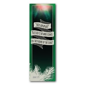 Hand Drawn Ribbon Palm Sunday 2' x 6' Banner