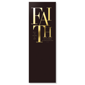 Gold Letters Faith Banners