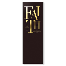 Gold Letters Faith Banner