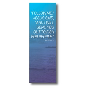Color Wash Matt 4:19 2' x 6' Banner