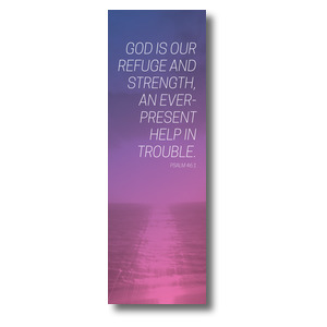 Color Wash Psalm 46:1 Banners