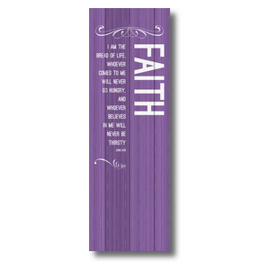 Painted Wood Faith 2' x 6' Banner