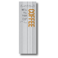 Painted Wood Coffee Banner