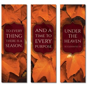 Ecc 3:1 Leaves 2' x 6' Banner