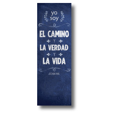 Chalkboard Art Blue Spanish