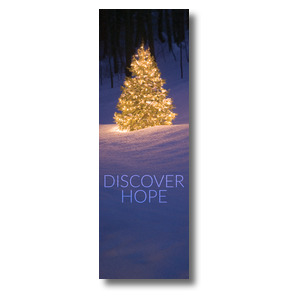 Discover Hope Bright Tree 2' x 6' Banner
