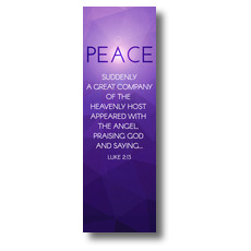 Advent Luke 2 Peace Banner