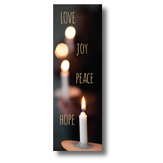 Candle Advent Words Banner