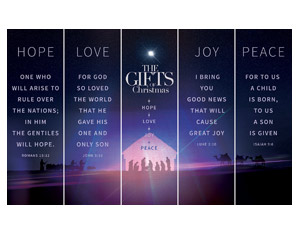 The Gifts of Christmas Advent 5 Banner Set Banners
