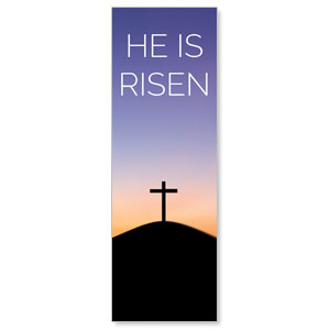 He Is Risen Sunrise 2' x 6' Banner