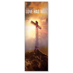 Love Has Won 2' x 6' Banner