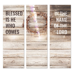 Blessed Is He 2' x 6' Banner