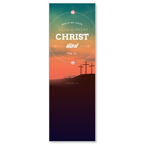 Christ Died For Us 2' x 6' Banner