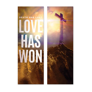 Love Has Won Pair 2' x 6' Banner