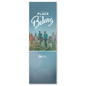 Back to Church Sunday: A Place to Belong Banners