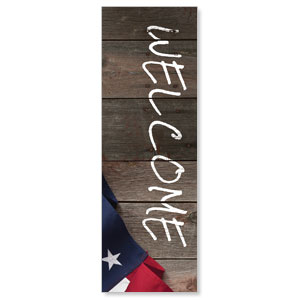 American Flag Invited 2' x 6' Banner