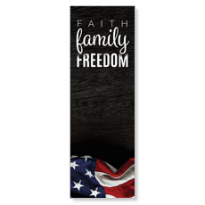 Faith Family Freedom Banner