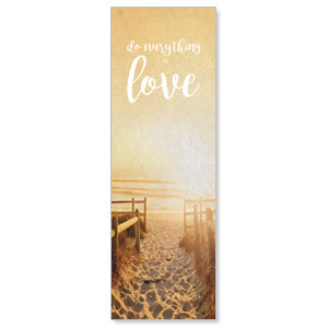 Photo Scriptures 1 Cor 16:14 2' x 6' Banner