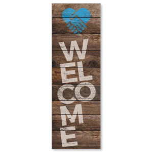 Shiplap Welcome Natural 2' x 6' Banner