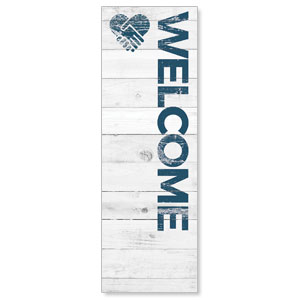 Shiplap Welcome White 2' x 6' Banner