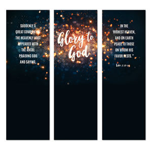 Glory to God Stars 2' x 6' Banner