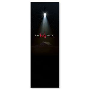 Oh Holy Night 2' x 6' Banner
