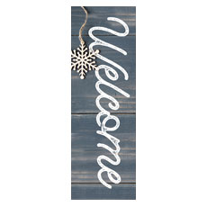 Wood Ornaments Welcome Banner