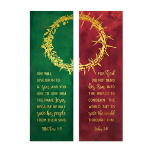 Wreath and Thorn Crown 2' x 6' Banner