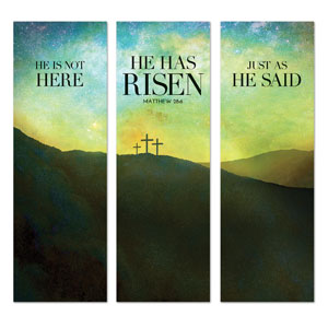 He Has Risen Matt 28:6 Banners