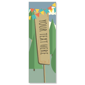 Woodland Friends Your Text Here 2' x 6' Banner
